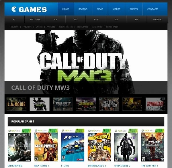 gaming website templates professional tips build game website