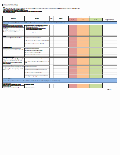 Gap Analysis Template Download Create Edit Fill and