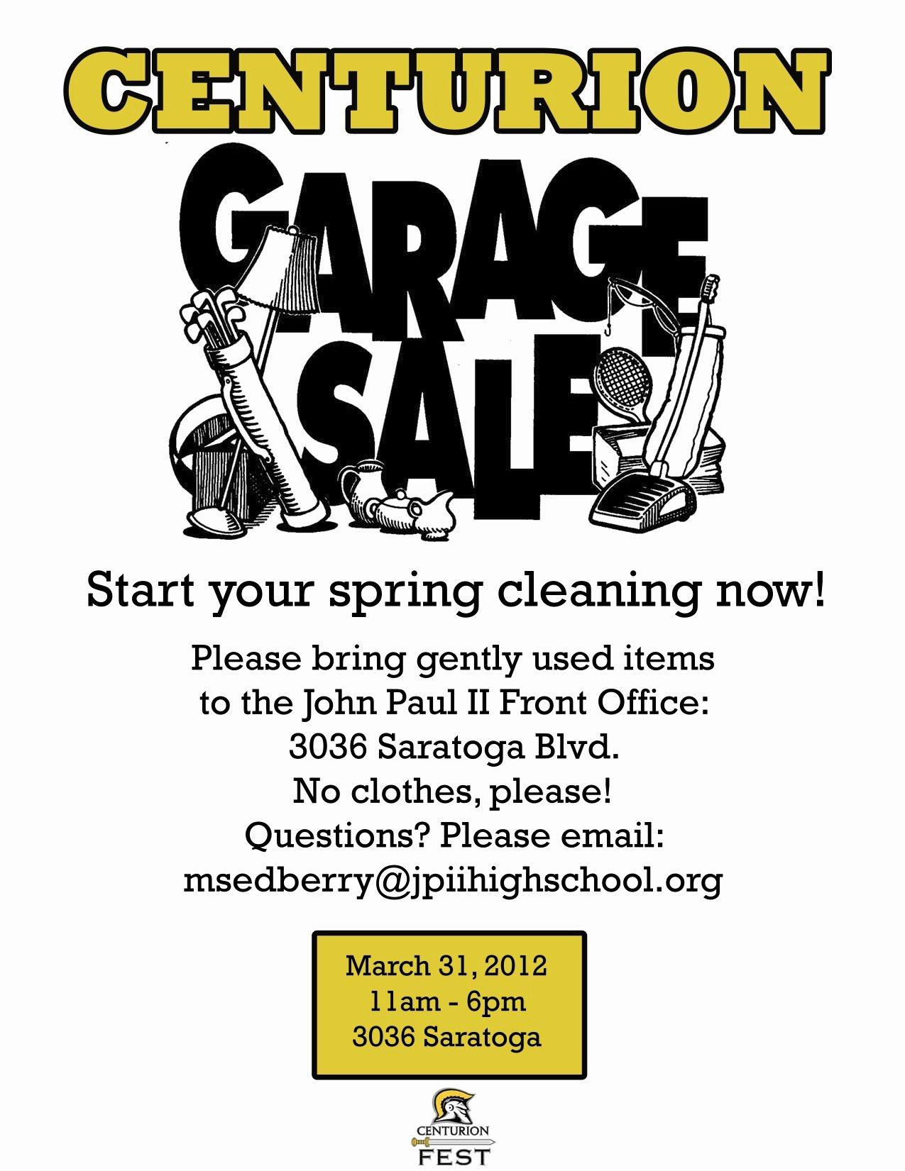 Garage Sale Flyer Template