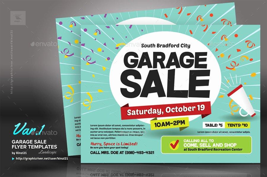 Garage Sale Flyer Templates by Kinzi21