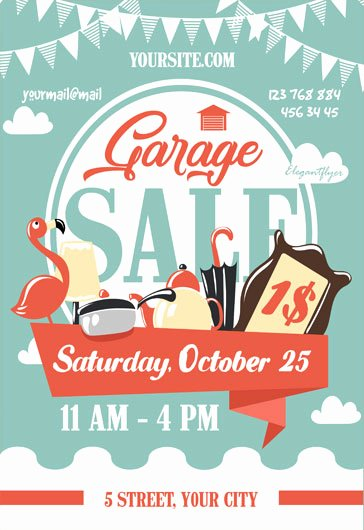 Garage Sale – Free Flyer Psd Template – by Elegantflyer