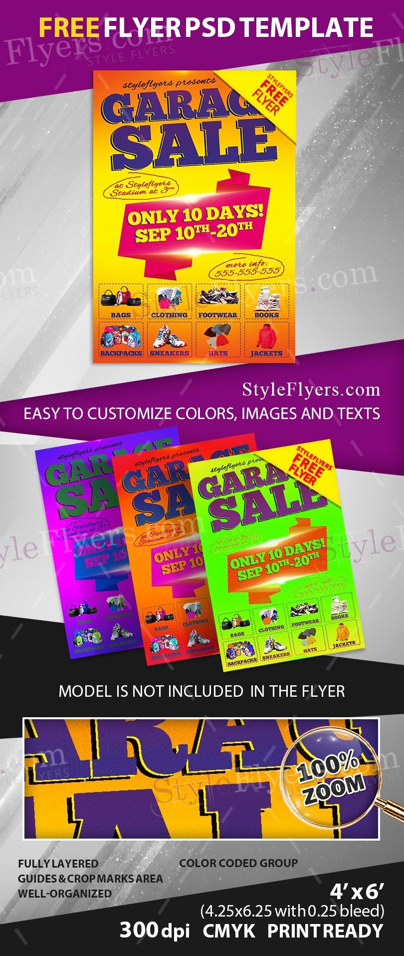 Garage Sale Free Psd Flyer Template Free Download