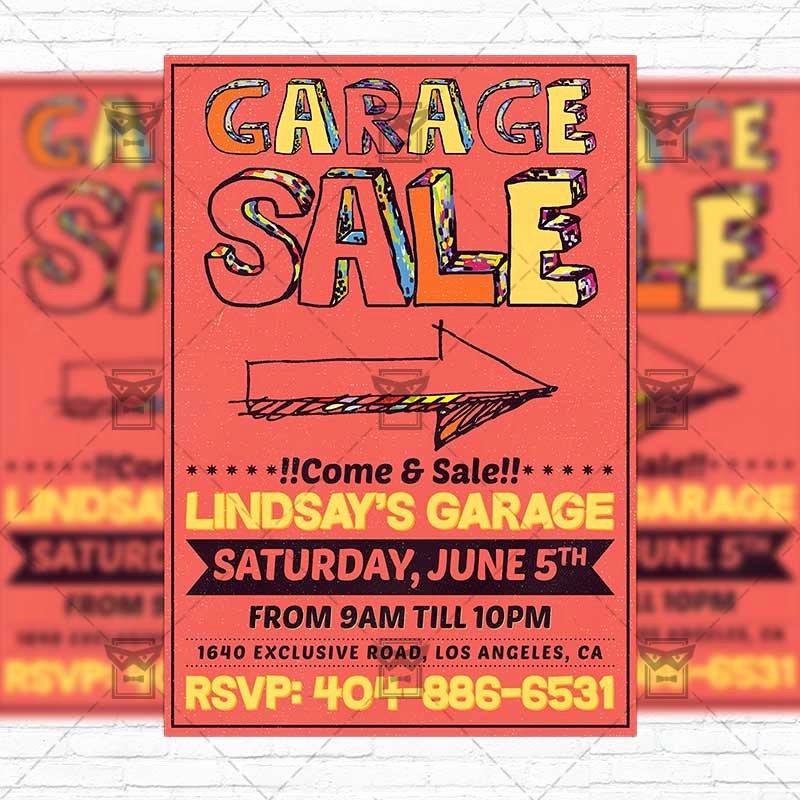 Garage Sale – Premium Flyer Template Instagram Size