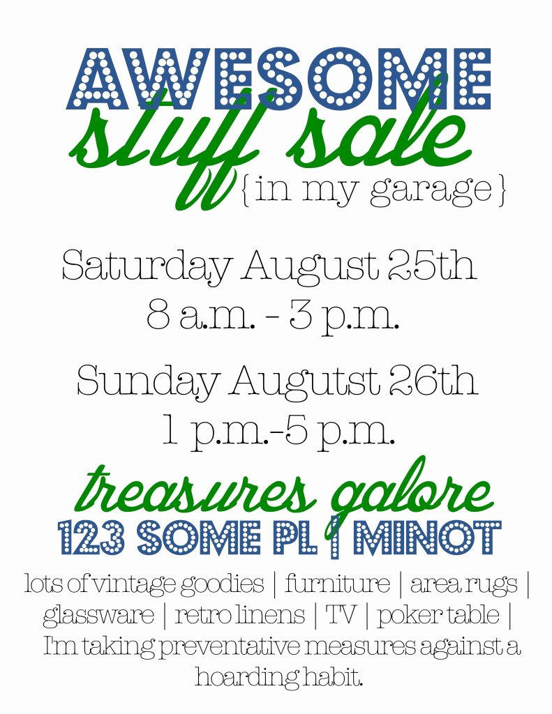 Garage Sale Tips Flyers and How to Make A Big Image