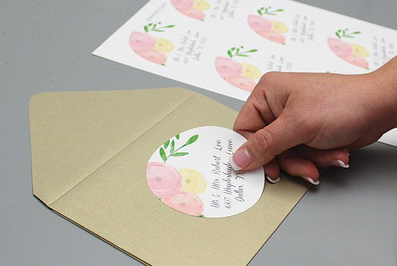 Garden Bouquet Wedding Address Labels – Download & Print