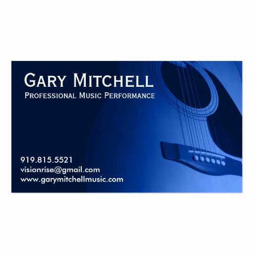 Gary Mitchell Music Double Sided Standard Business Cards