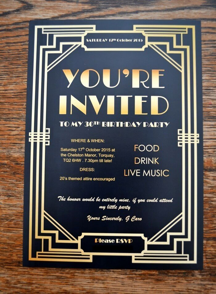 Gatsby Party Invites Gypsy soul