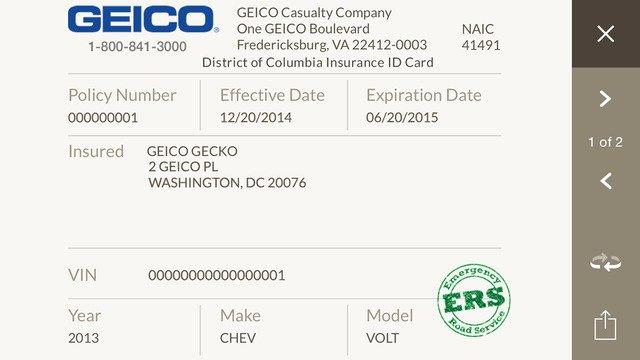 Geico Insurance Card Template