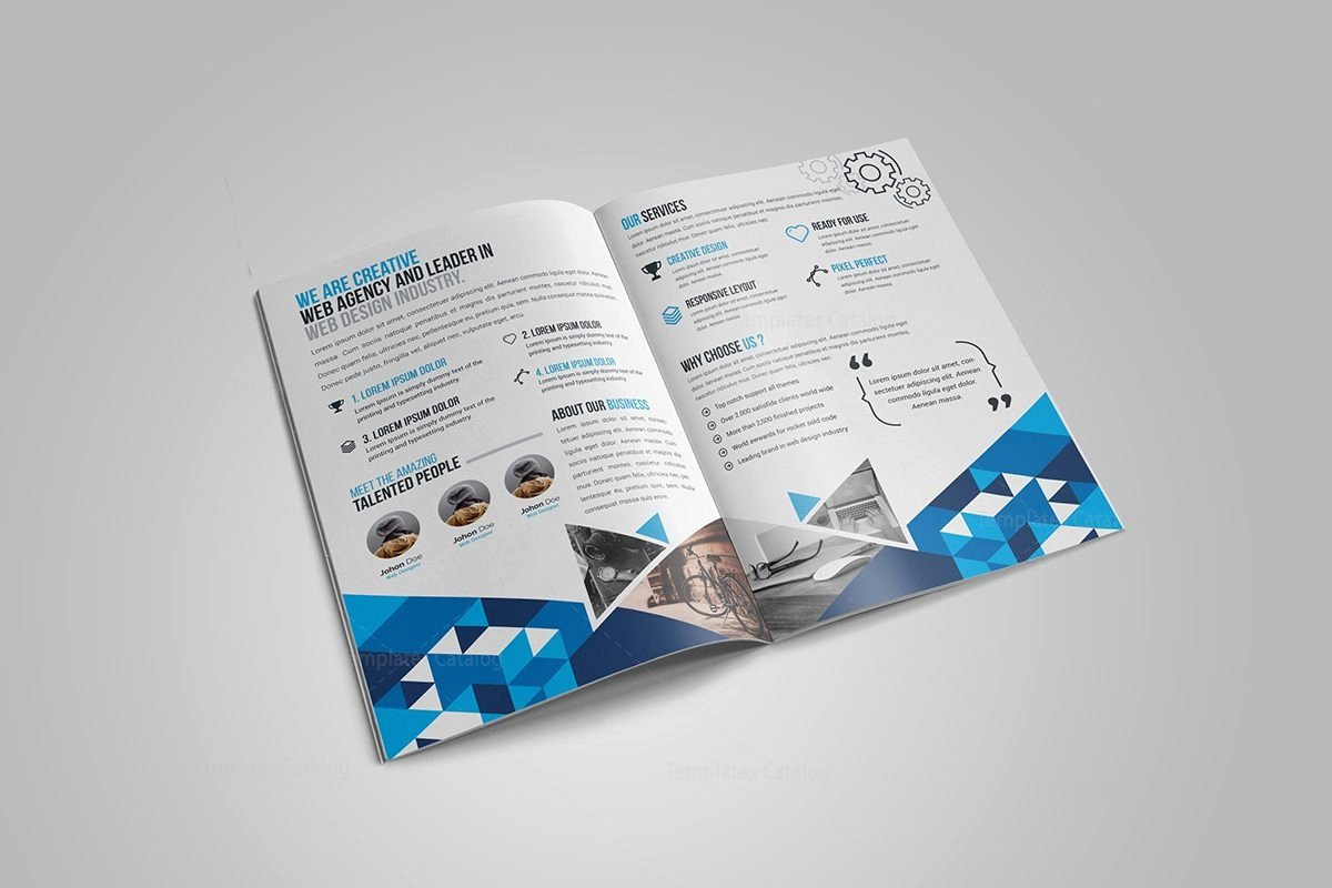 Gem Corporate Bi Fold Brochure Template Template