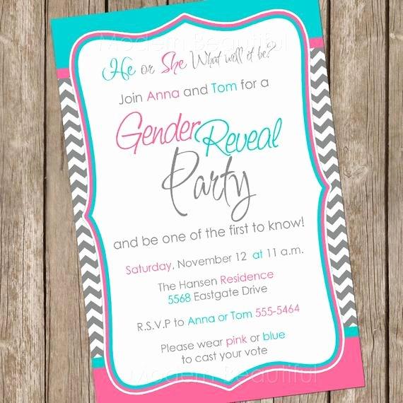 Gender Reveal Invitation Baby Reveal Invite Printable