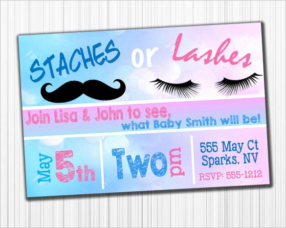 Gender Reveal Invitation Template – 34 Free Psd Eps