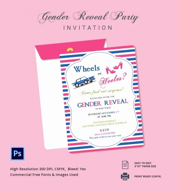 Gender Reveal Invitation Templates