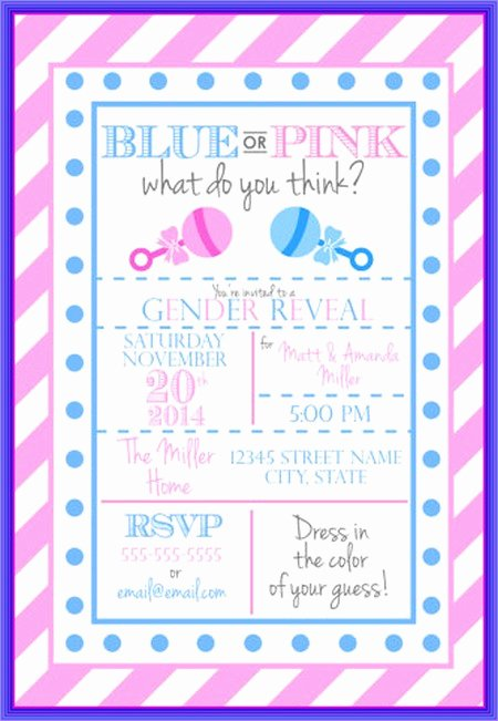 Gender Reveal Party Invitation 3