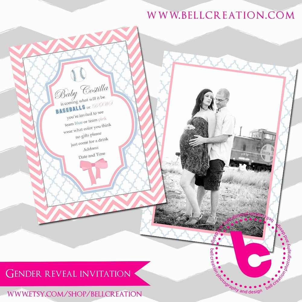 Gender Reveal Party Invitation Template 5x7
