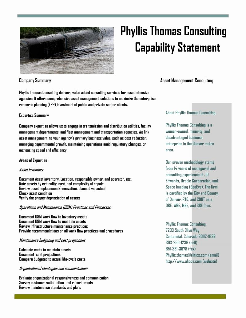 General Contractor Capability Statement Related Keywords