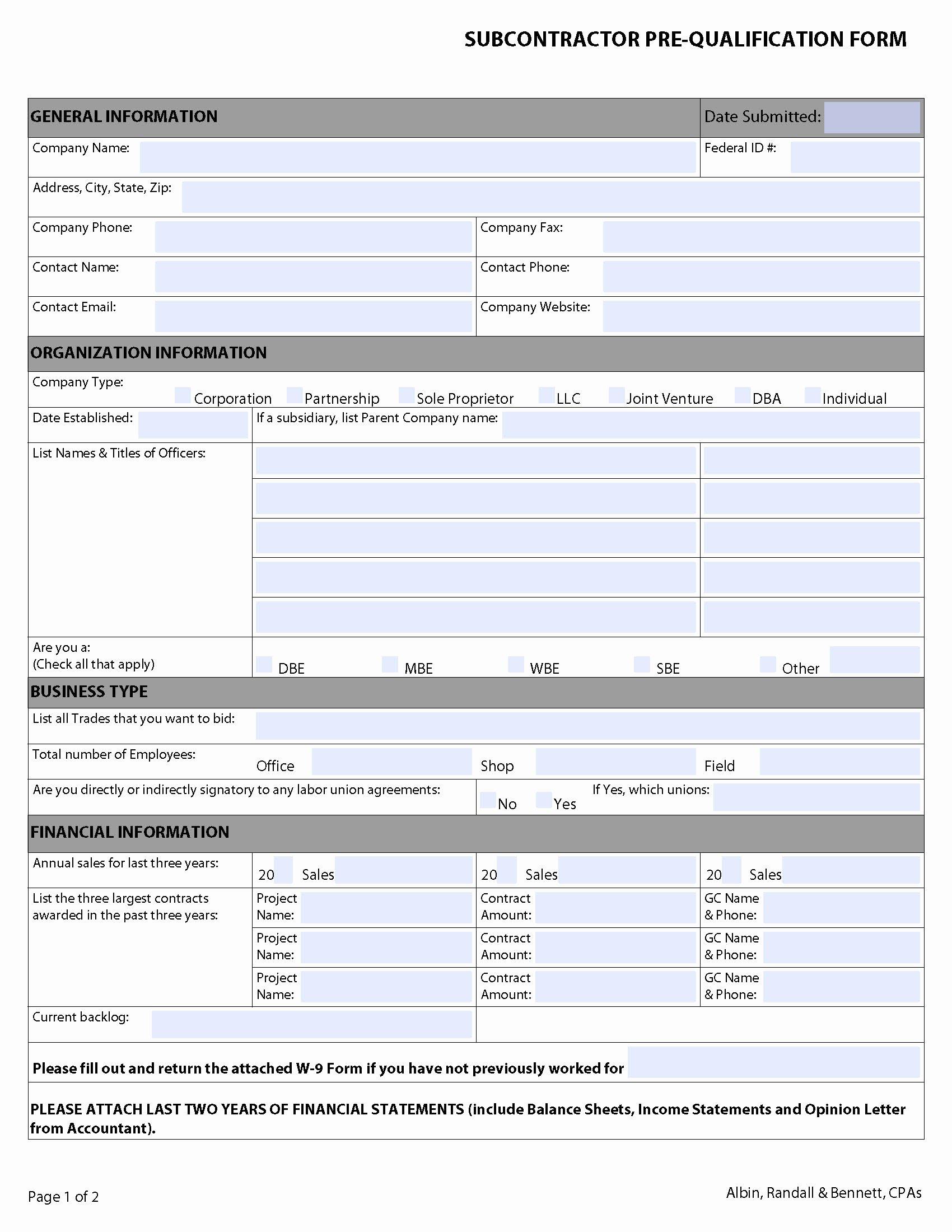 General Contractor Checklist Template Idealstalist