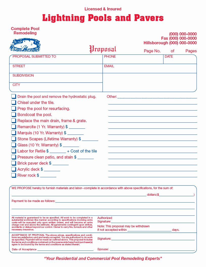 General Contractor Invoice form Samples Wilson Printing