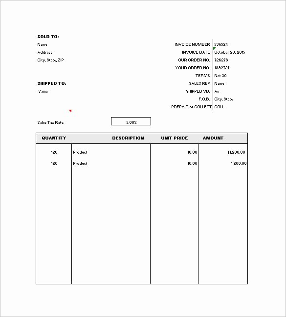 General Invoice Template 27 Free Word Excel Pdf