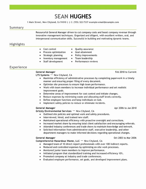 General Manager Resume Examples Created by Pros