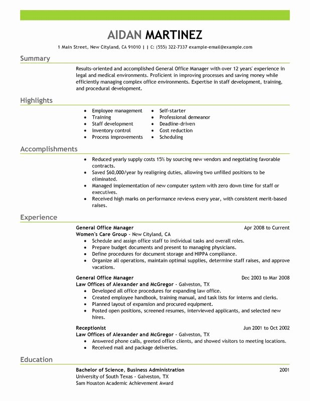 General Manager Resume Examples Free to Try today