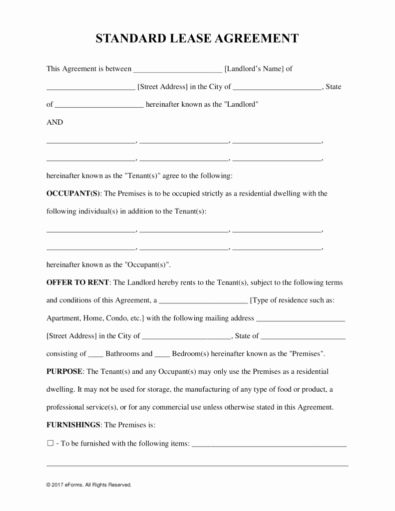General Merical Personal Property Lease forms