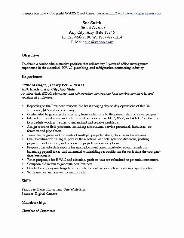 General Objective for A Resume Best Resume Gallery