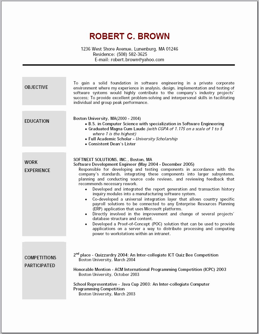 General Resume Objective Examples for Any Jobs