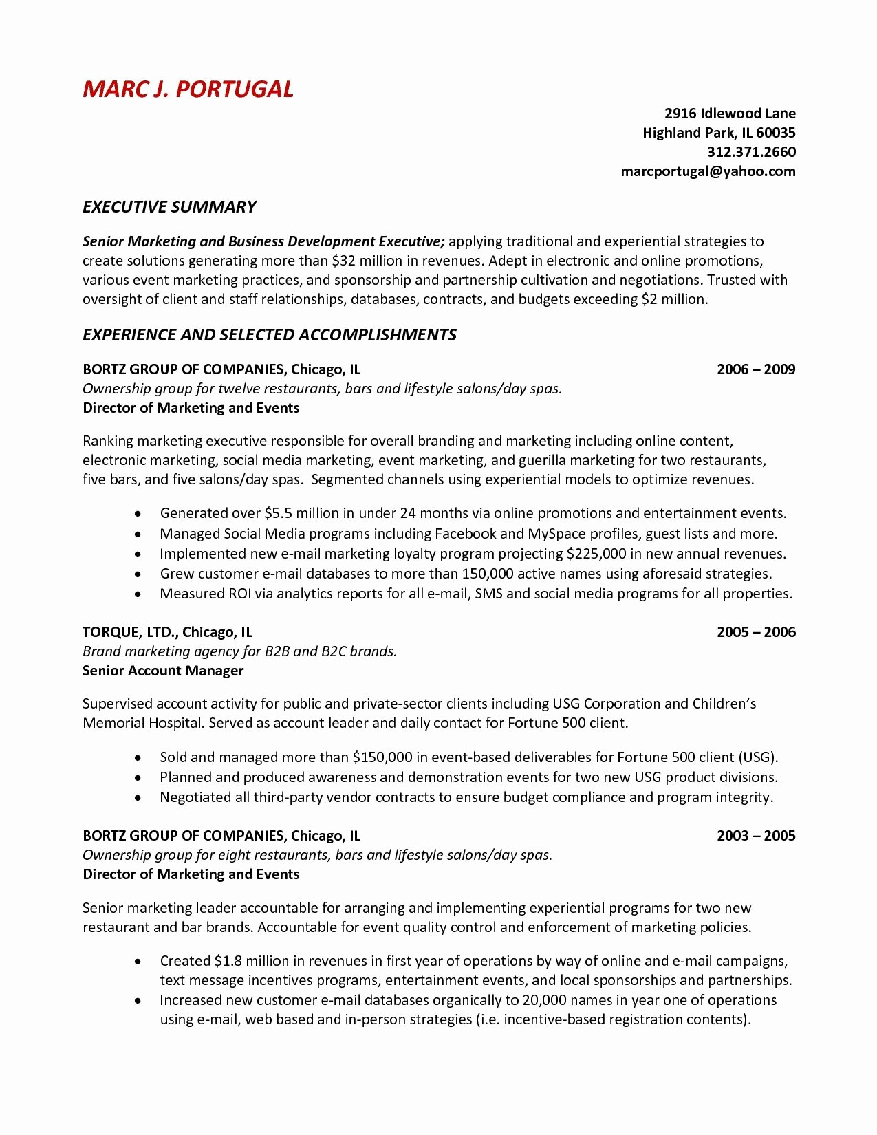 General Resume Summary Examples General Resume