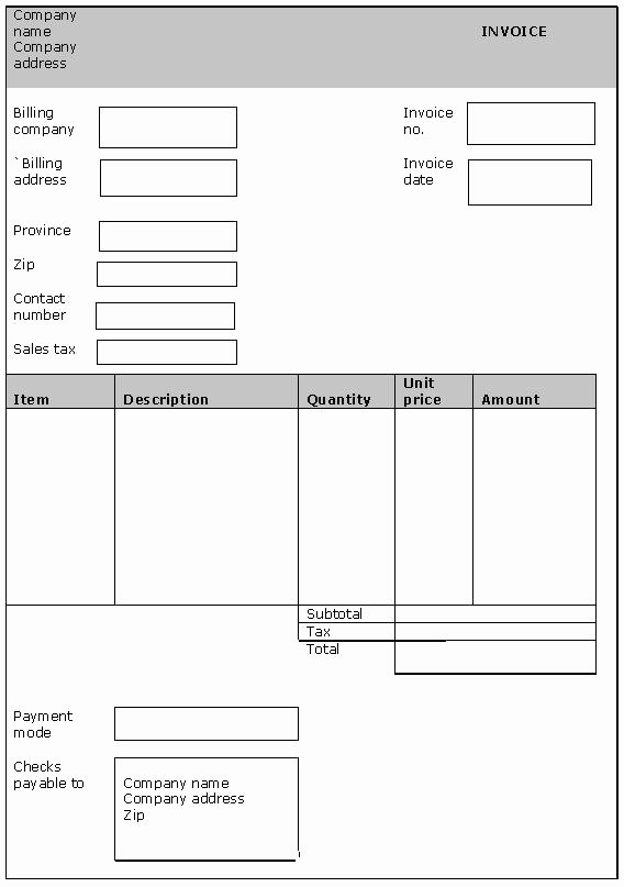 Generic Invoice Template Invoice Templates