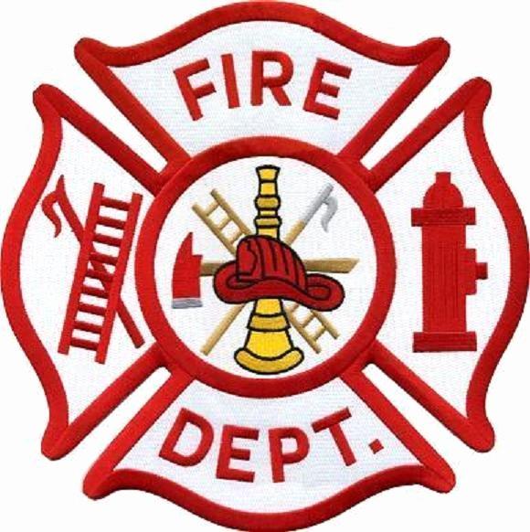 Generic Maltese Cross Fire Department Patch Emblem