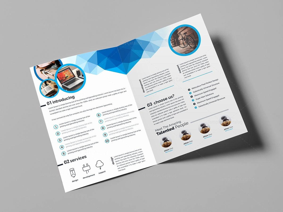 Genesis Stylish Bi Fold Brochure Template