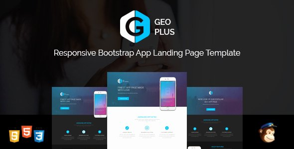 Geo Plus Responsive App Landing Page Template