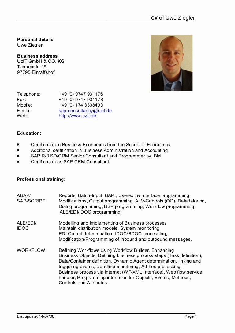 german cv template doc 227