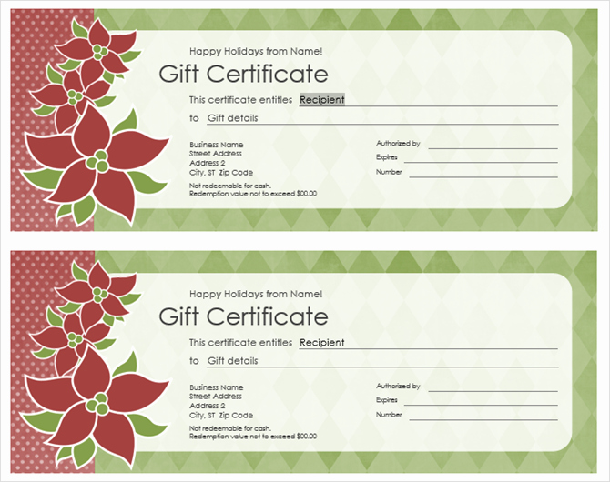 Get A Free Gift Certificate Template for Microsoft Fice