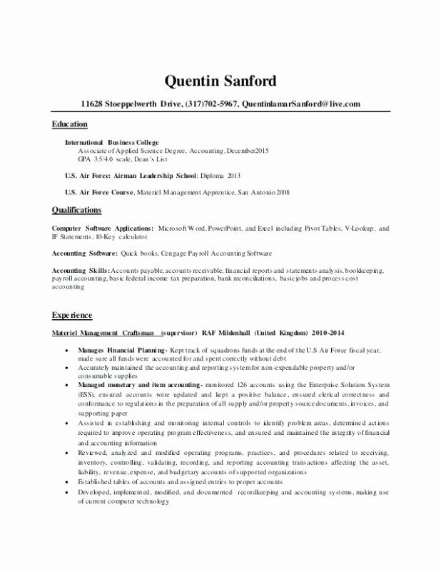Get Awesome Undergraduate Accounting Resume Inspiration