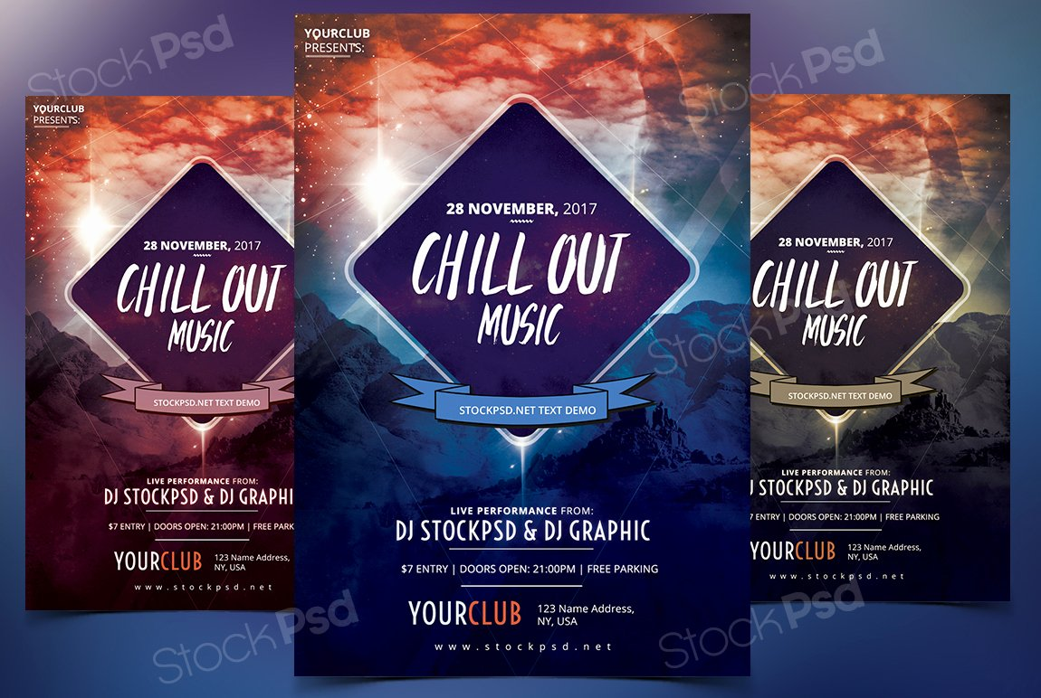 Get Free Chillout Music Flyer Template Psd Flyershitter