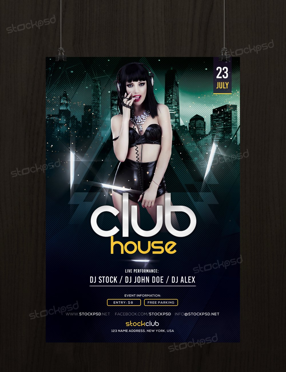 Get Free Club House Flyer Template Shop