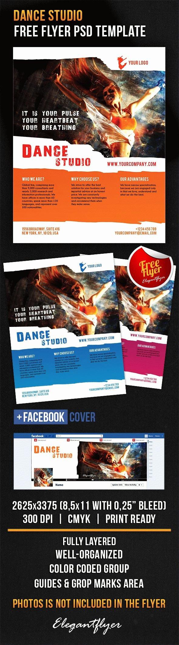 Get Free Flyer Template Shop Dance Studio