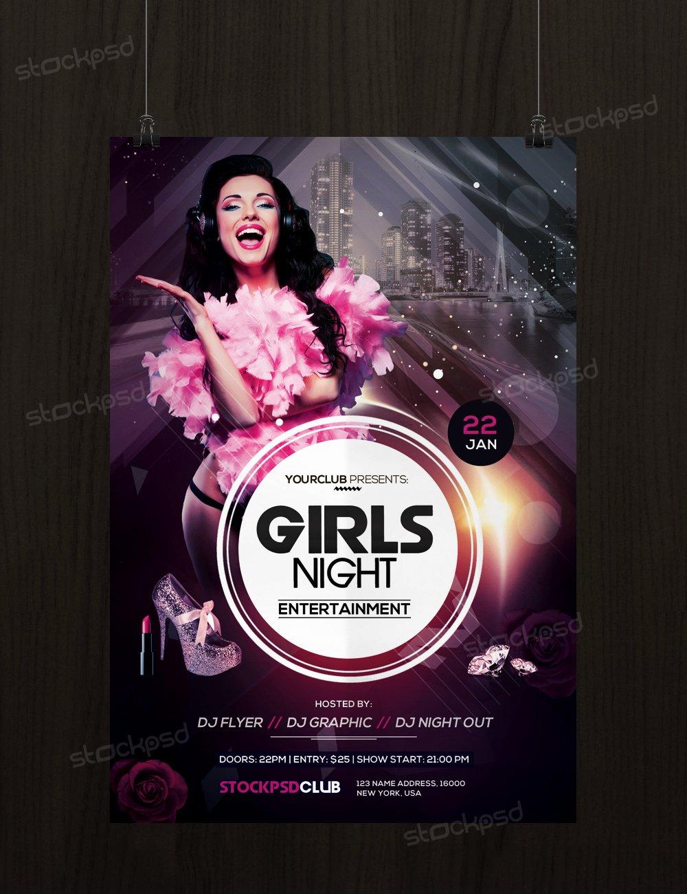 Get Girls Night Flyer Template Flyershitter