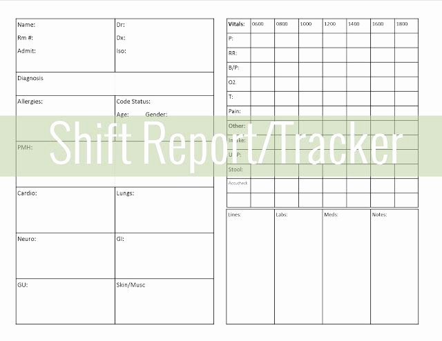 Get organized Shift Report Tracker