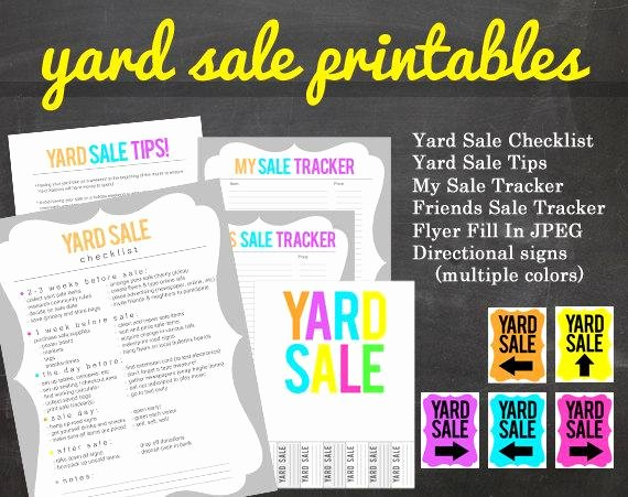 Get organized Yard Sale Printable Pack for Your Yard or Garage