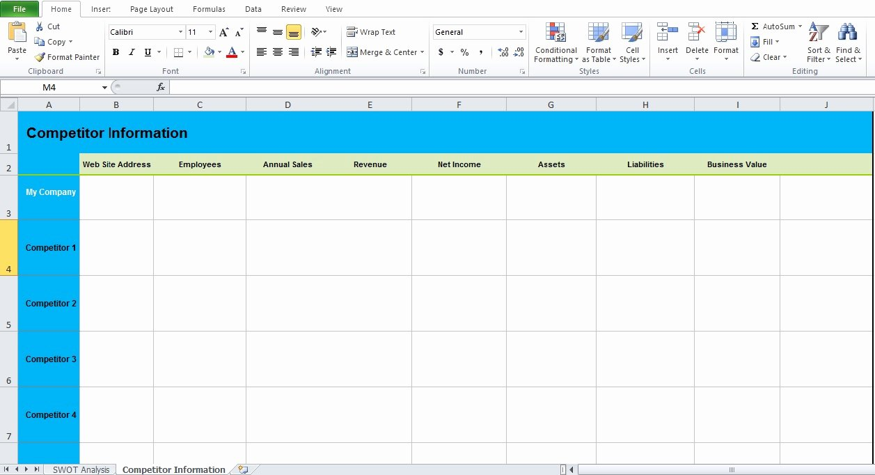 Get Swot Analysis Template Excel Excel Tmp
