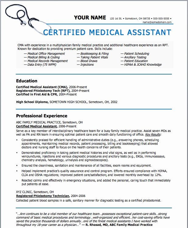 Get these New Medical assistant Templates