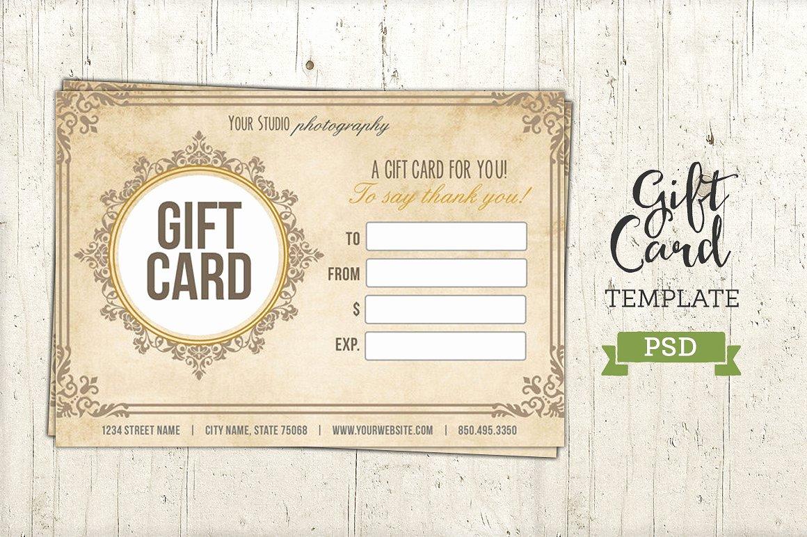 Gift Card Template Psd Certificate Templates Creative Market
