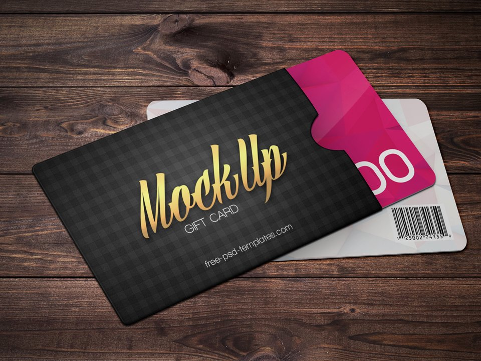 Gift Card with Envelope Psd Mockup Mockup Love