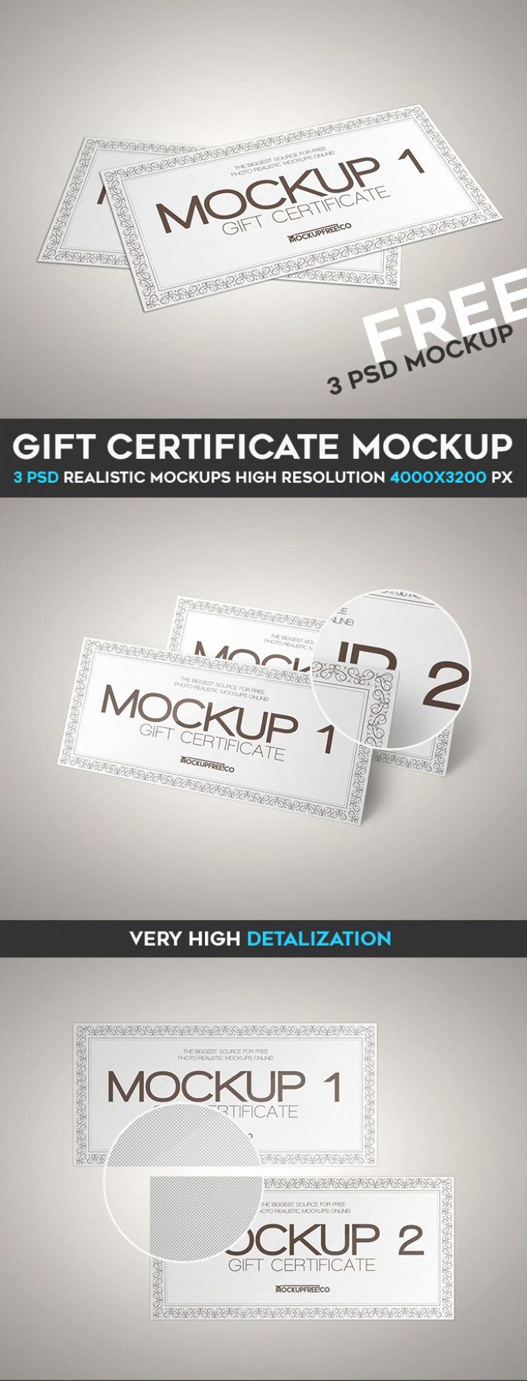 Gift Certificate Psd Mockup Templates Wooskins