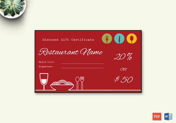 Gift Certificate Template 19 Choose & Customize for Any