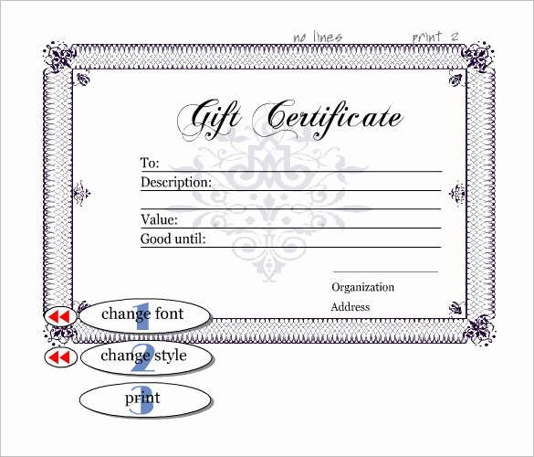 Gift Certificate Template – 34 Free Word Outlook Pdf