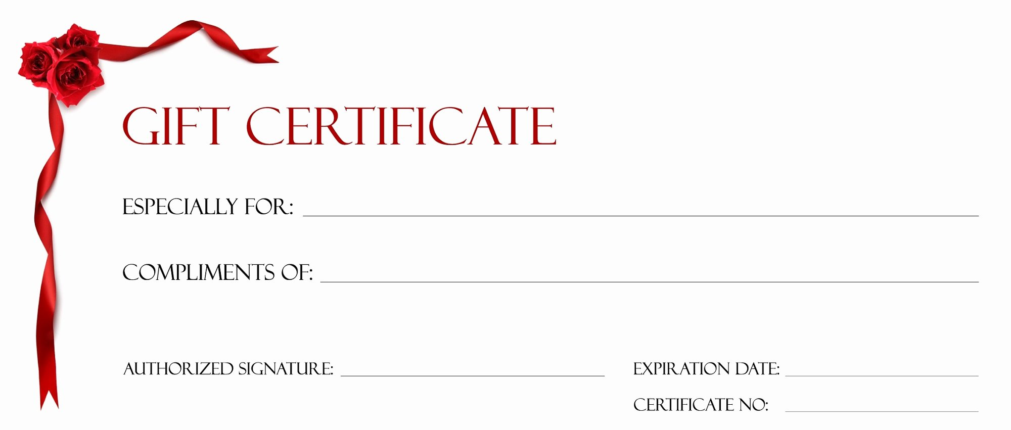 Gift Certificate Template for Kids Blanks