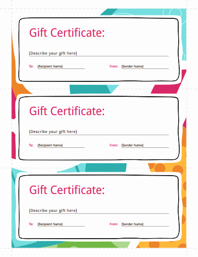 Gift Certificate Template Free Download Create Fill